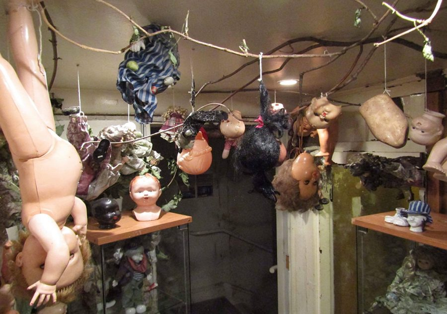 The Old Cinema Baby Dolls hanging